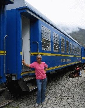 Dr. Ruth Heidrich in South America - Machu Picchu Train